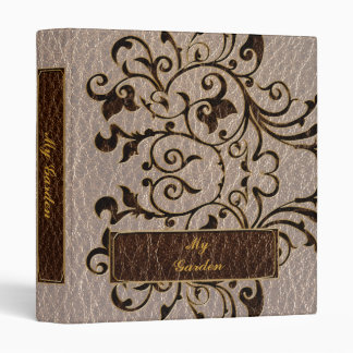 Leather-Look Flower 2 Soft 3 Ring Binder