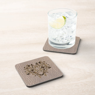 Leather-Look Flower 2 Soft Coaster