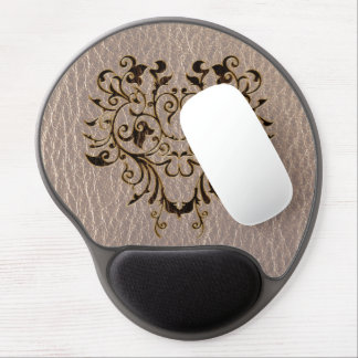 Leather-Look Flower 2 Soft Gel Mouse Pad