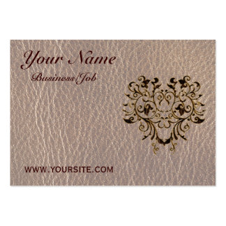 Leather-Look Flower 2 Soft Large Business Card