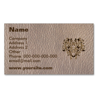 Leather-Look Flower 2 Soft Magnetic Business Card