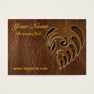 Leather-Look Flower Business Card