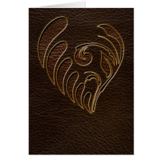 Leather-Look Flower Dark Card