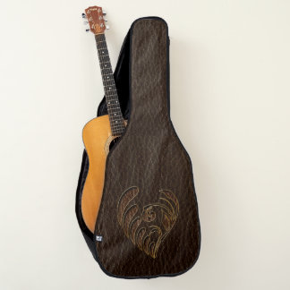 Leather-Look Flower Dark Guitar Case