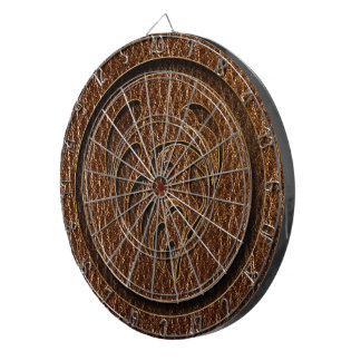 Leather-Look Flower Dart Board
