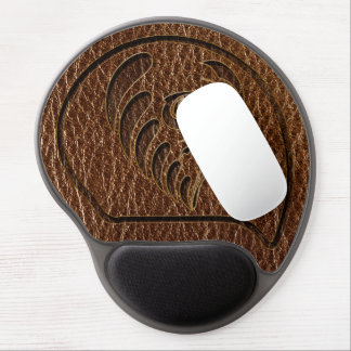 Leather-Look Flower Gel Mouse Pad