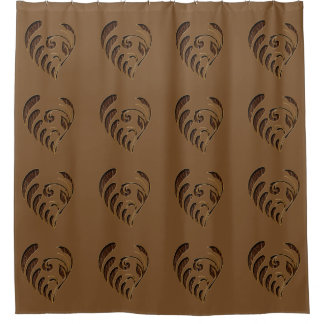 Leather-Look Flower Shower Curtain