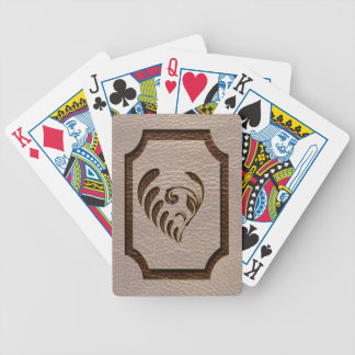 Leather-Look Flower Soft Bicycle Playing Cards