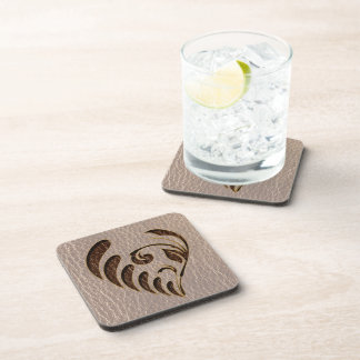 Leather-Look Flower Soft Coaster