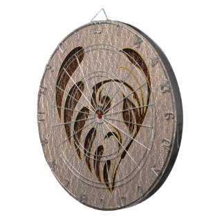 Leather-Look Flower Soft Dartboard With Darts