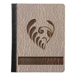 Leather-Look Flower Soft iPad Case