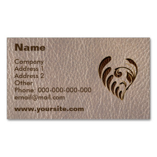Leather-Look Flower Soft Magnetic Business Card