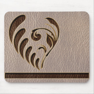 Leather-Look Flower Soft Mouse Pad