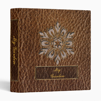 Leather-Look Flower Star 3 Ring Binder