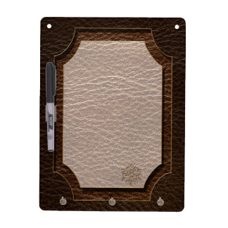 Leather-Look Flower Star Dark Dry-Erase Board