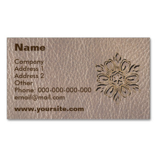 Leather-Look Flower Star Soft Business Card Magnet