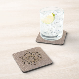 Leather-Look Flower Star Soft Coaster