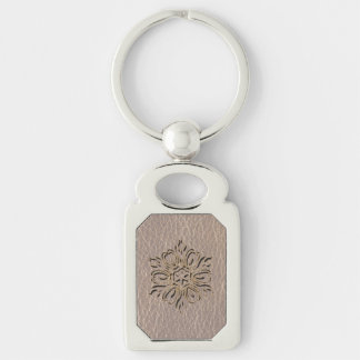 Leather-Look Flower Star Soft Keychain