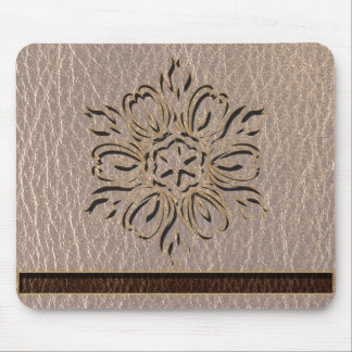 Leather-Look Flower Star Soft Mouse Pad