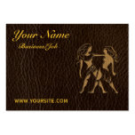 Leather-Look Gemini Business Card Templates