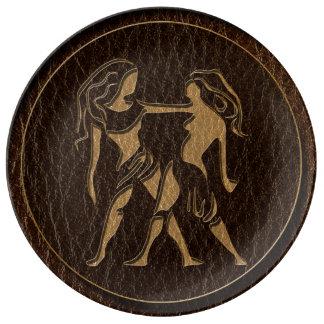Leather-Look Gemini Plate