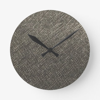 Leather look grey texture template diy add text round clock