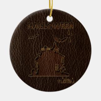Leather-Look Halloween 1 Ceramic Ornament