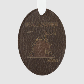 Leather-Look Halloween 1 Ornament