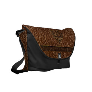Leather-Look Heart Courier Bag