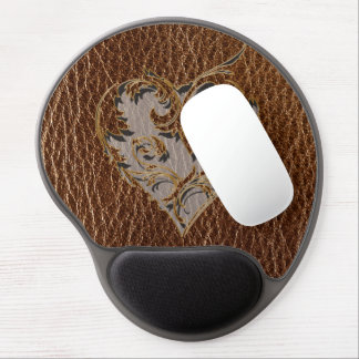 Leather-Look Heart Gel Mouse Pads
