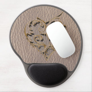 Leather-Look Heart Soft Gel Mousepad