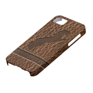 Leather-Look Horse 2 iPhone 5 Cover