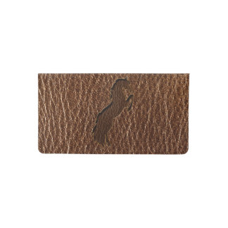 Leather-Look Horse 2 Checkbook Cover