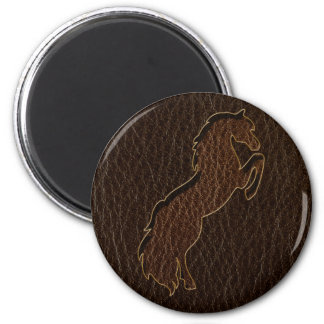 Leather-Look Horse 2 Dark Magnet