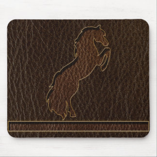 Leather-Look Horse 2 Dark Mouse Pad