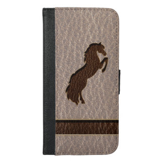 Leather-Look Horse 2 Soft iPhone 6/6s Plus Wallet Case