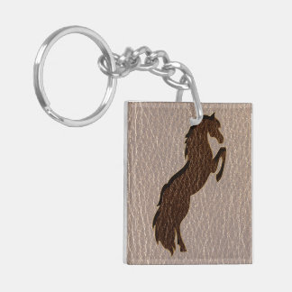 Leather-Look Horse 2 Soft Keychain