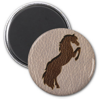 Leather-Look Horse 2 Soft Magnet
