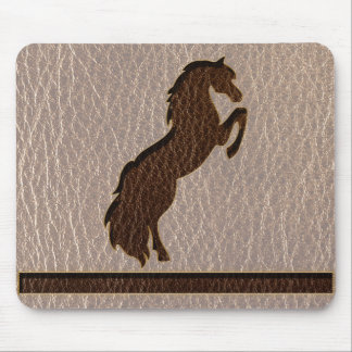 Leather-Look Horse 2 Soft Mouse Pad