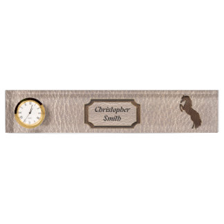 Leather-Look Horse 2 Soft Nameplate