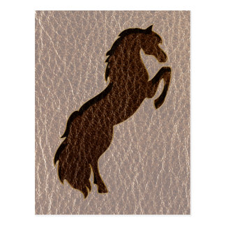 Leather-Look Horse 2 Soft Postcard