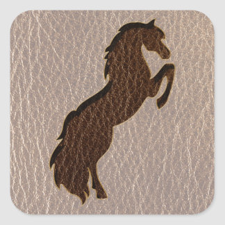 Leather-Look Horse 2 Soft Square Sticker