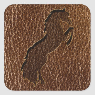 Leather-Look Horse 2 Square Sticker