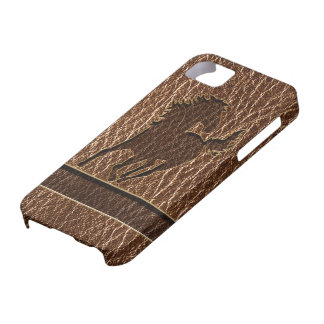 Leather-Look Horse iPhone 5 Case
