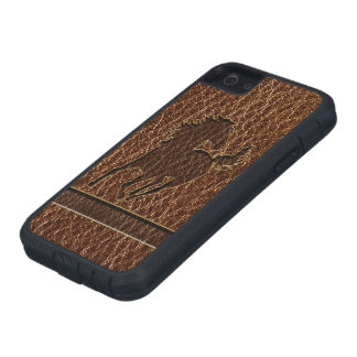 Leather-Look Horse Case For iPhone SE/5/5s