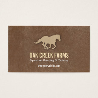 Leather Look Horse Imprint Business Card