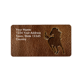 Leather-Look Horse Label