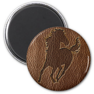 Leather-Look Horse Magnet