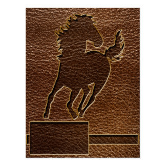 Leather-Look Horse Postcard