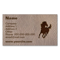 Leather-Look Horse Soft Business Card Magnet